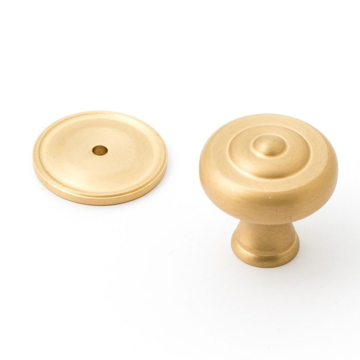 Decade 38mm Fluted Knob & Backplate (various finishes)