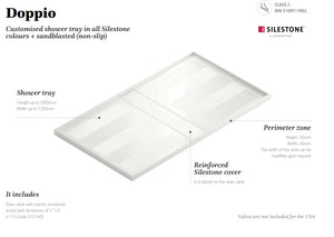 Silestone Doppio Shower Tray