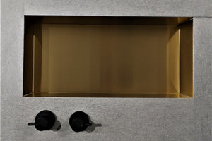 Metallico Shower Niche - Satin Gold (various sizes)