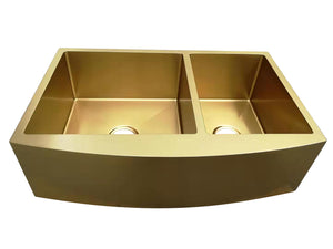 DURA-SINK 840mm Double Bowl Apron Sink (various colours)