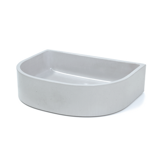 Half Moon 444mm Concrete Basin - Assorted Colours