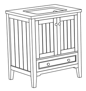 Jackie Collection timber vanity