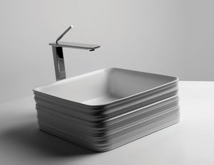 DUBLIN 380mm Square Textured Ceramic Basin