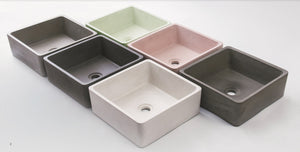 MADRID 380mm Square Concrete Basin - Assorted Colours