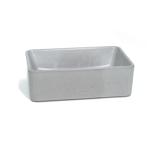 Mini Rectangle 360mm Concrete Basin - Assorted Colours