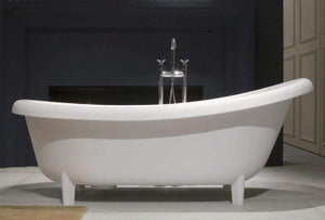 Minneapolis free-standing modern clawfoot bathtub