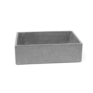 Rectangle Vessel 470mm Concrete Basin - Assorted Colours