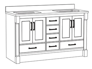 Sarah Collection timber vanity
