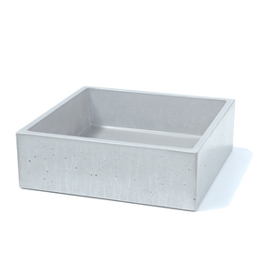 Square Vessel 382mm Concrete Basin - Assorted Colours