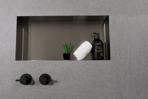 Metallico Shower Niche - Satin Stainless (various sizes)