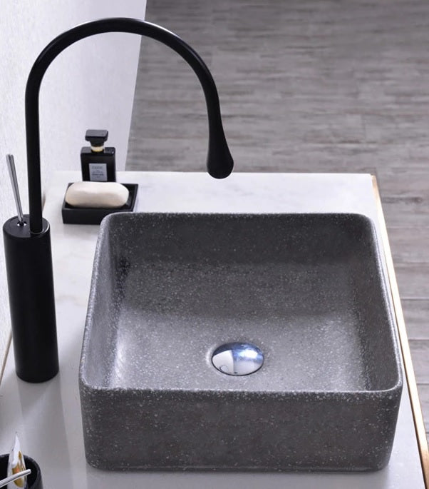 HELSINKI 360mm Square Terrazzo Basin - Assorted Colours