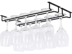 Single Row Metal Wine Glass Rack - Various Colours