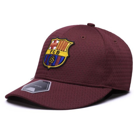 Barcelona FC FCB Burgundy Soccer Hat Cap Football Messi Spain Fi Collection