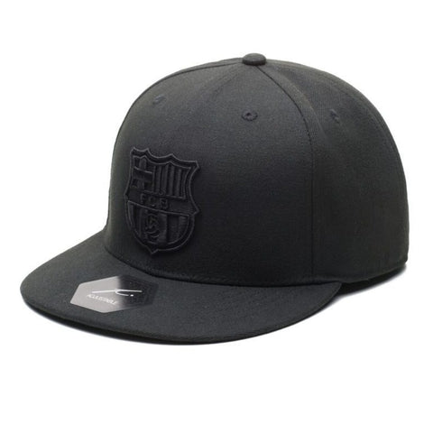 Barcelona FC FCB Black Soccer Hat Cap Football Messi Spain Fi Collection