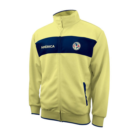Club America 2020 Gold Blue Track Jacket Mexico Soccer Futbol