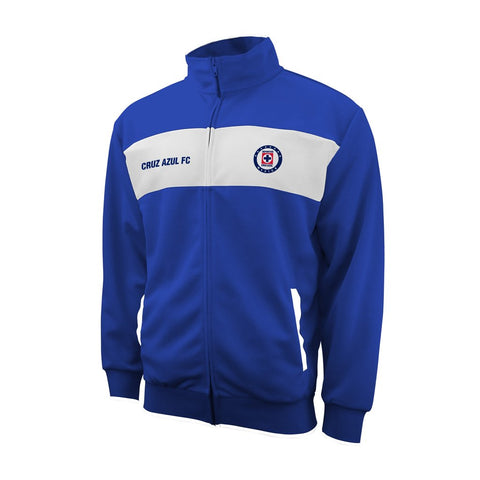 Cruz Azul FC Mexico Track Jacket Mens Blue White Training Soccer Logo FMF