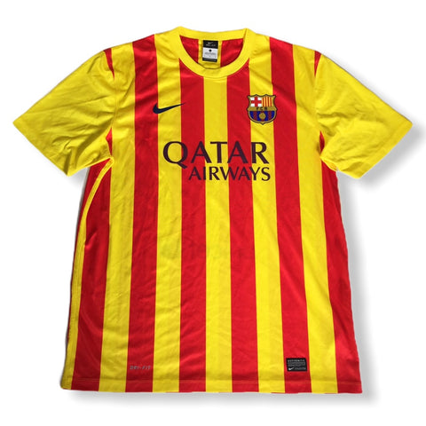 FC Barcelona 2013 2014 Nike Jersey Football Soccer Shirt Messi Gold Red Throwback Vintage Rare