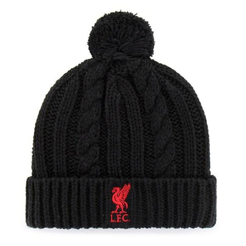 Liverpool-FC-EPL-Knit-Winter-Pom-Beanie-Logo-Black-Red