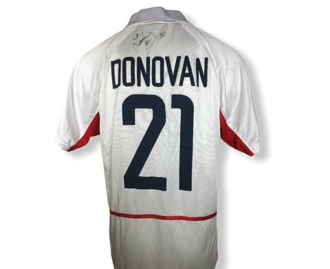 Landon Donovan Team USA US Soccer Autographed Signed Jersey 2002 Home White #21 Rare