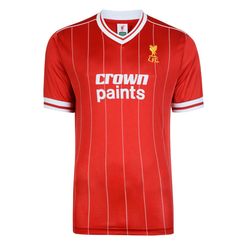 Liverpool FC 1982 Retro Jersey Shirt Red Striped Score Draw Football Soccer England EPL