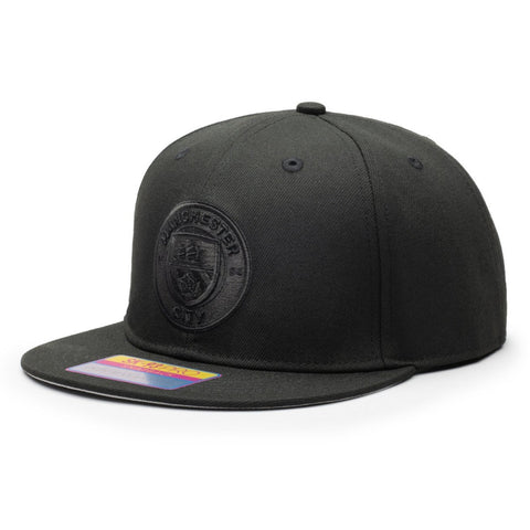 Manchester City Fi Collection Black Hat Cap Snapback Man Cityzen Dusk Blackout