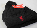 Liverpool FC Knit Winter Pom Beanie - Black/Red
