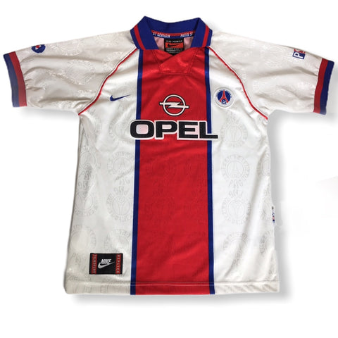 PSG Vintage Rare 1996 1997 Nike Opal Retro Authentic Replica Soccer Football Jersey Shirt