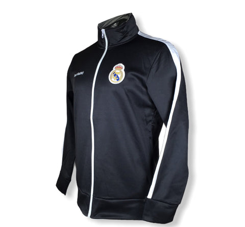 Real Madrid Training Track Jacket Full Zip Black White Anthem Official