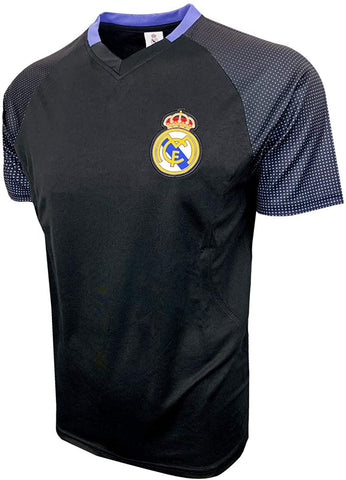 Real Madrid 2020 Training Jersey Shirt Top Black Blue