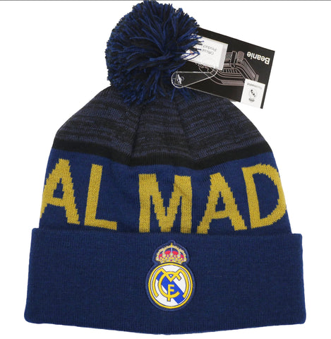 Real Madrid 2020 Winter Pom Beanie Hat Cap Navy Blue