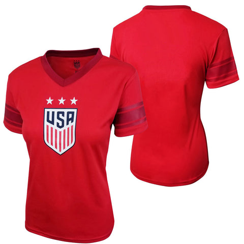 USA SOCCER USWNT Women's World Cup Polymesh Stadium Jersey - Red