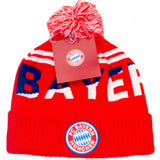 Bayern Munich Red Winter Pom Beanie Cap