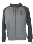 Juventus Full Zip Grey Light Summer Hoodie Jacket - Front