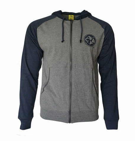 Club America Lightweight Full Zip Fleece Light Summer Hoodie Jacket