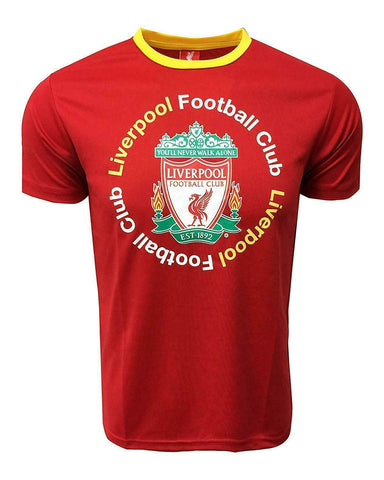 Liverpool Training Jersey Top Shirt Logo Red Ringer