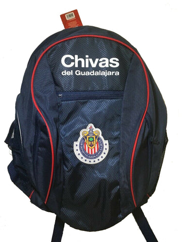 Chivas Guadalajara School Soccer Ball Backpack Bag Blue