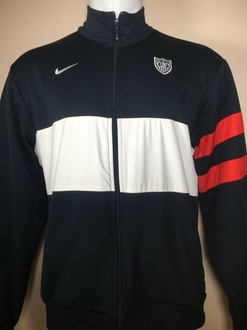 US Soccer NIKE Full Zip Up Training Track Jacket USA