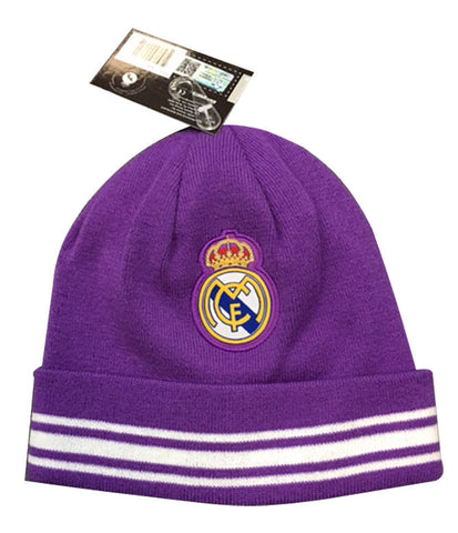 Real Madrid Knit Winter Beanie Hat Cap Purple