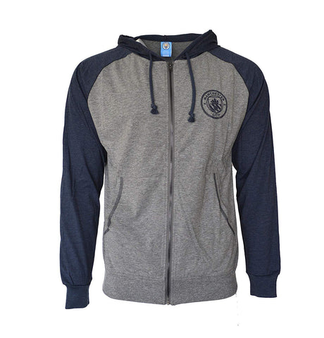 Manchester City Full Zip Up Summer Hoodie Light Jacket
