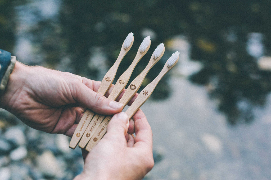 Bamboo Toothbrush Four Pack - Love Your Planet Australia