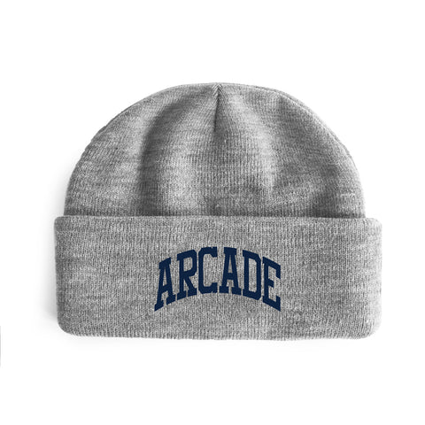 Arch Logo Double Fold Beanie Heather
