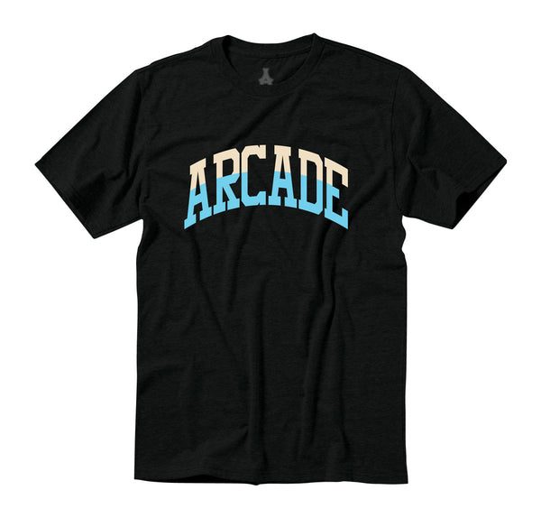 Arcade Two-Tone Arch Tee - Black/Cream/Blue