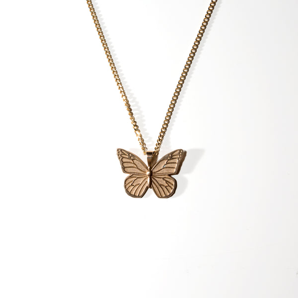 Butterfly Chain 9kt Gold