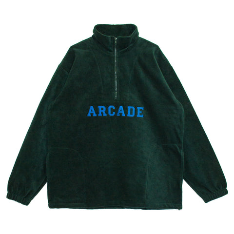 Quarter Zip Polar Fleece Forest Green