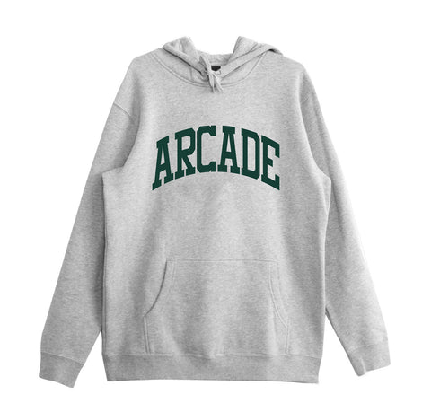 Arcade Arch Hood - Heather Grey/Green