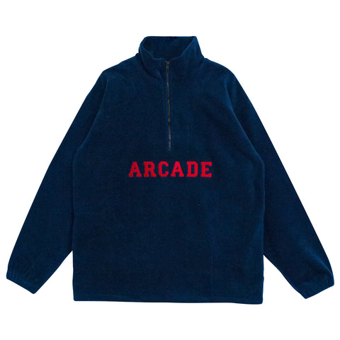 Quarter Zip Polar Fleece Navy