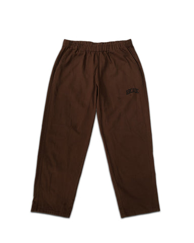 Cotton Drill Relaxed Pant Brown