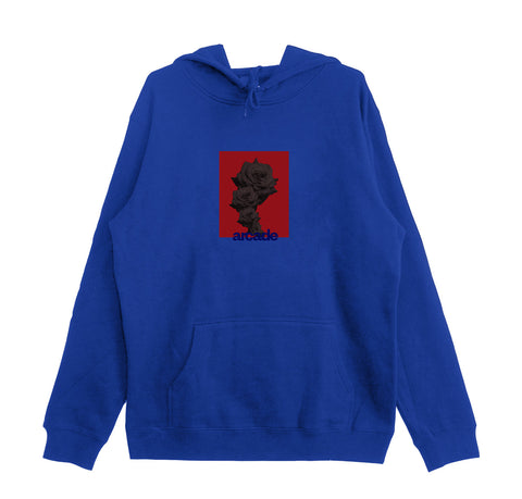 Arcade Rose Hood - Royal Blue/Red