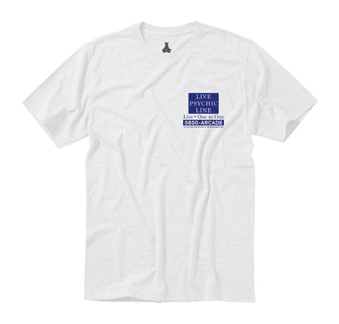 Arcade Hotline Tee - White/Blue