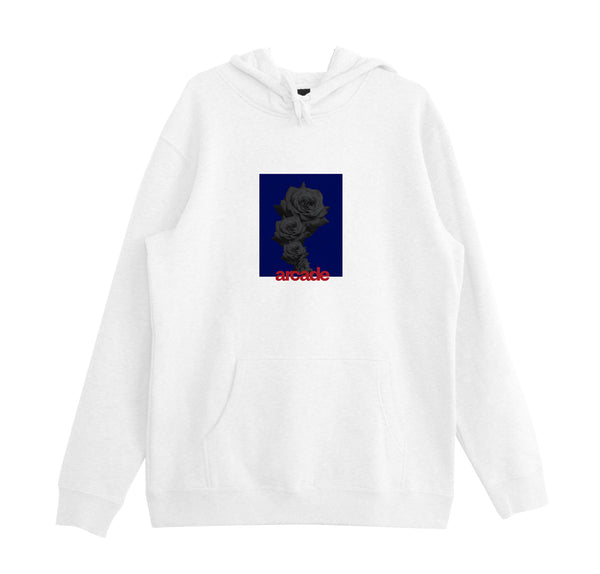 Arcade Rose Hood - White/Blue